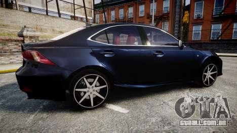 Lexus IS 350 F-Sport 2014 Rims2 para GTA 4 esquerda vista