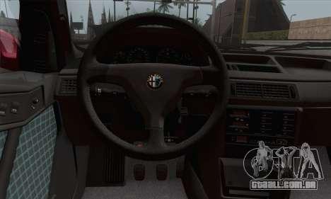 Alfa Romeo 155 Q4 1992 Stock para GTA San Andreas traseira esquerda vista