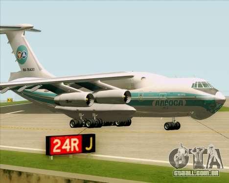 IL-76TD ALROSA para GTA San Andreas esquerda vista