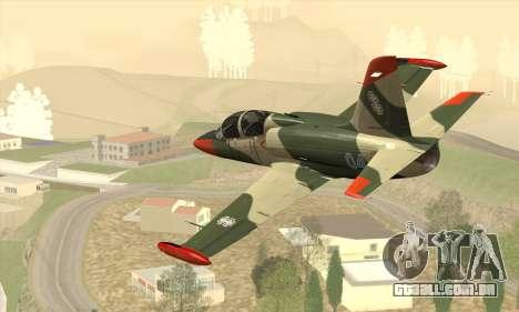 Aero L-39C para GTA San Andreas esquerda vista