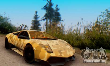 Lamborghini Murcielago Camo SV para GTA San Andreas