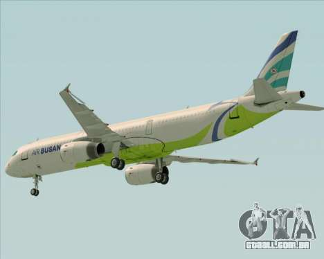 Airbus A321-200 Air Busan para GTA San Andreas vista superior