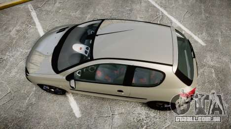 Peugeot 206 XS 1999 para GTA 4 vista direita