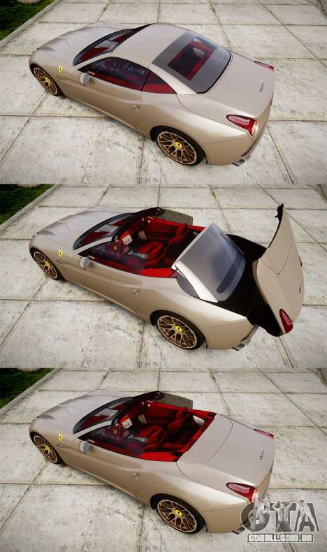Ferrari California [EPM] para GTA 4 vista lateral