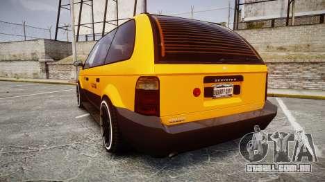 Schyster Cabby Taxi para GTA 4 traseira esquerda vista