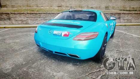 Mercedes-Benz SLS AMG v3.0 [EPM] Kotori Minami para GTA 4 traseira esquerda vista