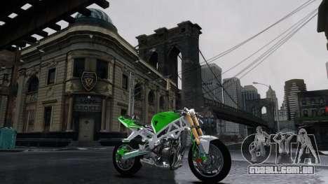 Kawasaki Ninja 636 Stunt para GTA 4 esquerda vista