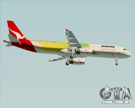 Airbus A321-200 Qantas (Socceroos Livery) para GTA San Andreas vista direita