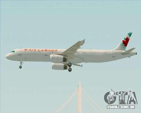 Airbus A321-200 Air Canada para GTA San Andreas vista interior