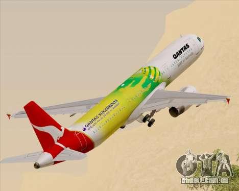 Airbus A321-200 Qantas (Socceroos Livery) para GTA San Andreas
