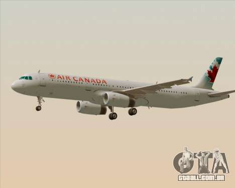 Airbus A321-200 Air Canada para GTA San Andreas vista superior