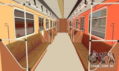 Metrophage tipo de 81-717 para GTA San Andreas vista interior