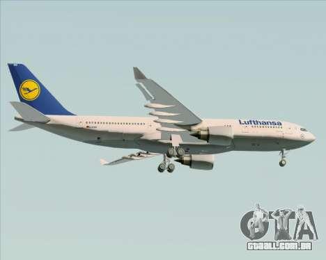 Airbus A330-200 Lufthansa para GTA San Andreas vista direita