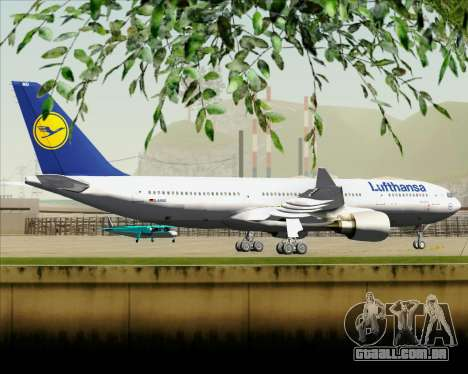 Airbus A330-200 Lufthansa para GTA San Andreas vista traseira