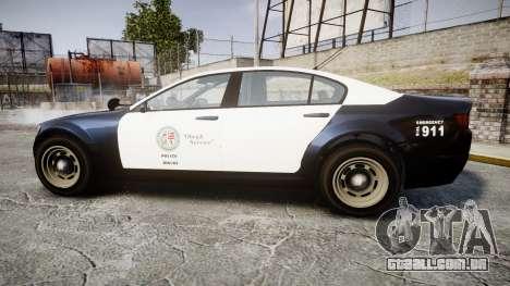 GTA V Cheval Fugitive LS Police [ELS] Slicktop para GTA 4 esquerda vista