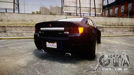 GTA V Cheval Fugitive Unmarked [ELS] Slicktop para GTA 4 traseira esquerda vista