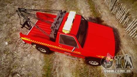 Declasse Rancher Towtruck [ELS] para GTA 4 vista direita