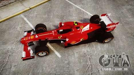 Ferrari F138 v2.0 [RIV] Massa THD para GTA 4 vista direita