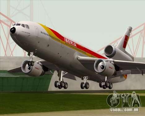 McDonnell Douglas DC-10-30 Iberia para GTA San Andreas vista interior