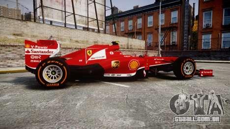 Ferrari F138 v2.0 [RIV] Massa THD para GTA 4 esquerda vista