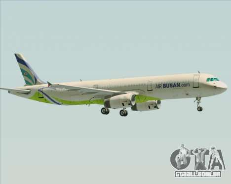 Airbus A321-200 Air Busan para GTA San Andreas vista inferior