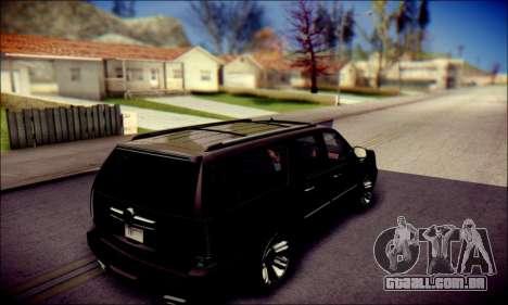 Cadillac Escalade Ninja para GTA San Andreas vista inferior