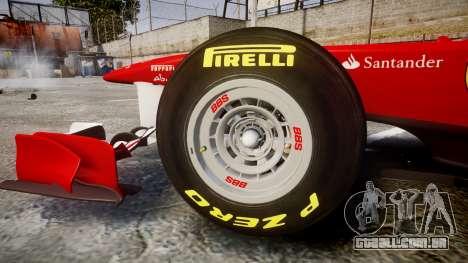 Ferrari 150 Italia Massa para GTA 4 vista interior