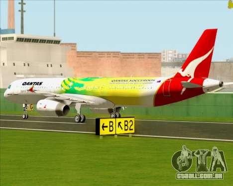 Airbus A321-200 Qantas (Socceroos Livery) para GTA San Andreas vista traseira
