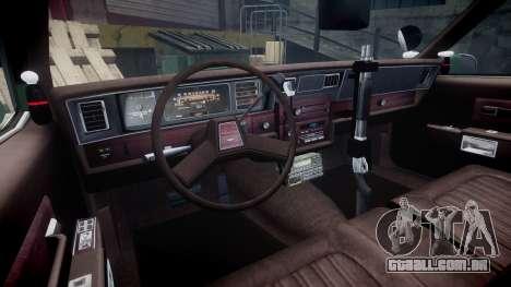 Chevrolet Caprice 1986 Brougham Police [ELS] para GTA 4 vista de volta