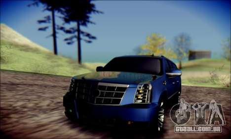 Cadillac Escalade Ninja para GTA San Andreas vista superior