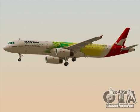 Airbus A321-200 Qantas (Socceroos Livery) para GTA San Andreas vista interior