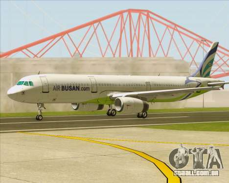 Airbus A321-200 Air Busan para vista lateral GTA San Andreas