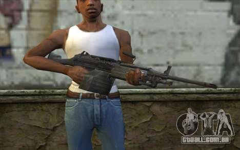 FN M249E2 SAW from SoF: Payback para GTA San Andreas terceira tela