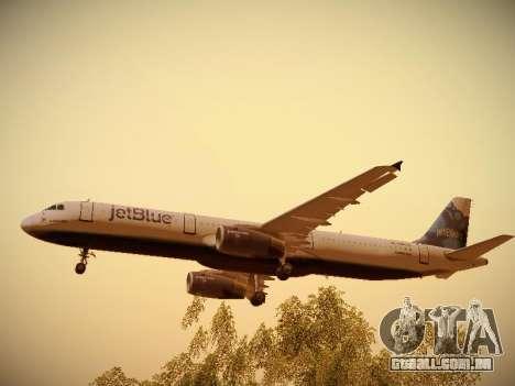 Airbus A321-232 jetBlue La vie en Blue para o motor de GTA San Andreas