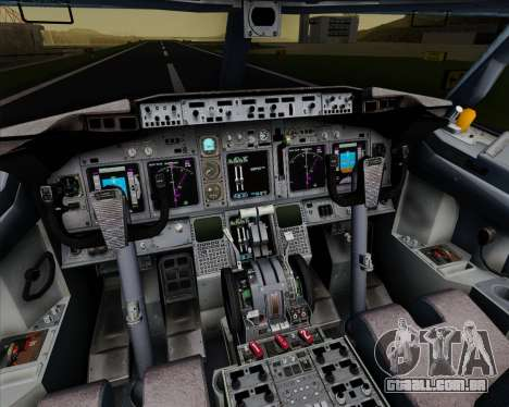 Boeing 737-800 Orbit Airlines para GTA San Andreas interior