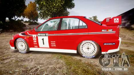 Mitsubishi Lancer Evolution VI 2000 Rally para GTA 4 esquerda vista