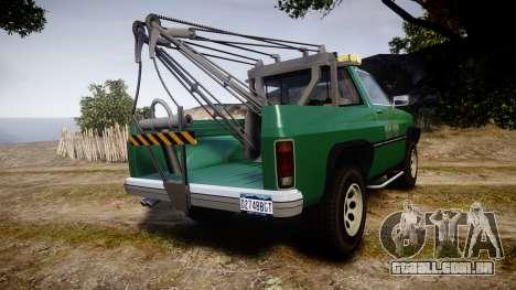 Declasse Rancher Towtruck [ELS] para GTA 4 traseira esquerda vista
