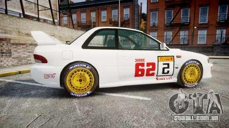 Subaru Impreza WRC 1998 SA Competio para GTA 4 esquerda vista