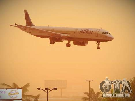 Airbus A321-232 jetBlue La vie en Blue para vista lateral GTA San Andreas