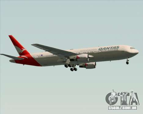 Boeing 767-300ER Qantas (New Colors) para GTA San Andreas vista superior