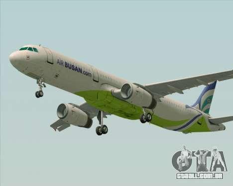 Airbus A321-200 Air Busan para GTA San Andreas vista traseira