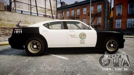 GTA V Bravado Buffalo LS Police [ELS] Slicktop para GTA 4 esquerda vista