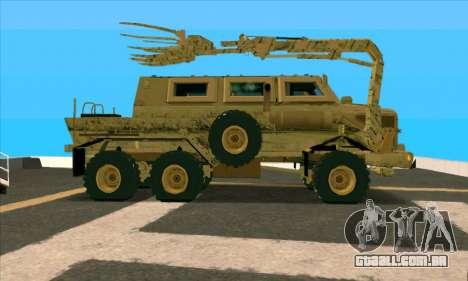 Bonecrusher Transformers 2 para GTA San Andreas esquerda vista