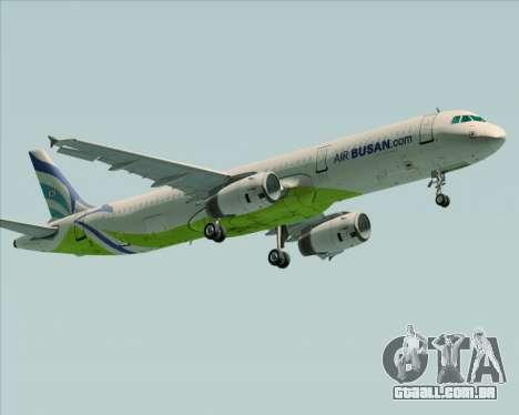 Airbus A321-200 Air Busan para GTA San Andreas esquerda vista
