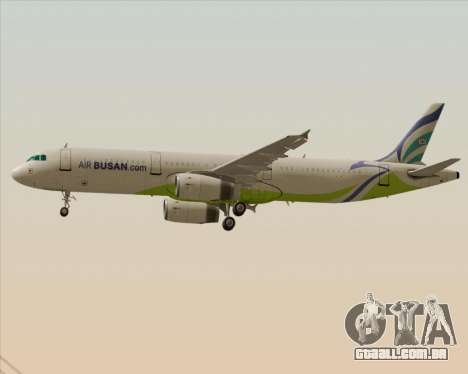Airbus A321-200 Air Busan para as rodas de GTA San Andreas