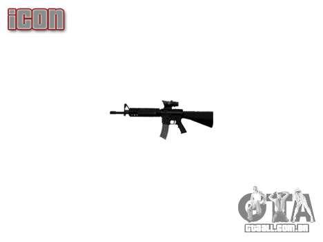 Rifle M16A4 ACOG alvo para GTA 4 por diante tela