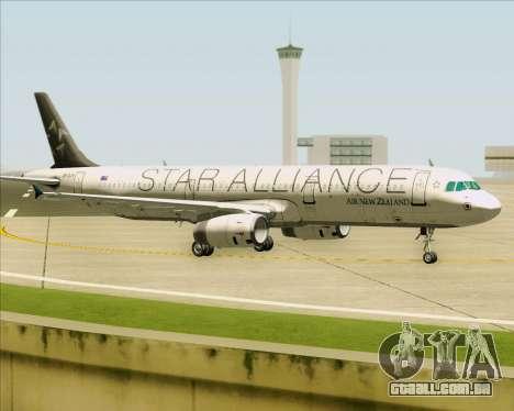 Airbus A321-200 Air New Zealand (Star Alliance) para GTA San Andreas esquerda vista