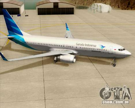 Boeing 737-800 Garuda Indonesia para as rodas de GTA San Andreas