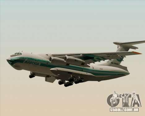 IL-76TD ALROSA para GTA San Andreas traseira esquerda vista
