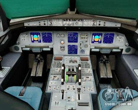 Airbus A321-200 Air New Zealand (Star Alliance) para GTA San Andreas interior